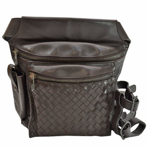 Bottega Veneta BOTTEGA VENETA Bag Intrecciato Dark Brown Calf Leather Waist Pouch Ladies Men 51516