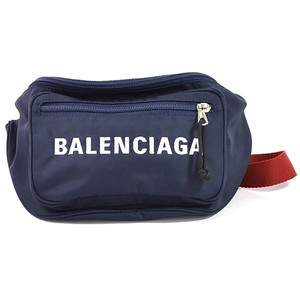 Balenciaga Waist Pouch Wheel Belt Navy Red Nylon BALENCIAGA Women's 97794d