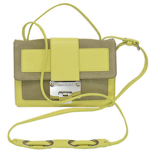 Jimmy Choo JIMMY CHOO Bag Lemon Yellow Beige Gold Leather Suede Shoulder Mini Ladies 51902c