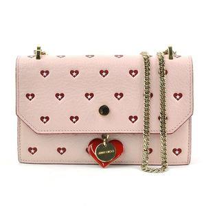 Jimmy Choo bag pink red gold leather shoulder pochette JIMMY CHOO Ladies 51905