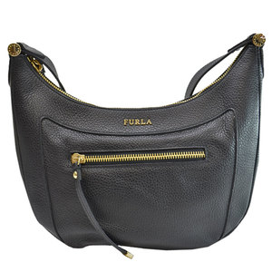 Furla FURLA Bag Black Gold Leather Shoulder Ladies 51900c