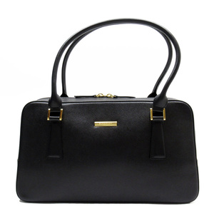 Burberry BURBERRY Handbag Black Gold Leather Ladies 52061d