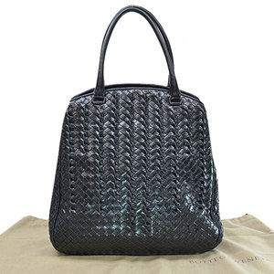 Bottega Veneta BOTTEGA VENETA Bag Intrecciato Black Leather Handbag Ladies 51838a