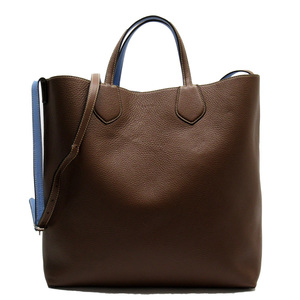 Gucci GUCCI Handbag Tote Bag Brown Blue Leather Ladies 52064d