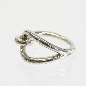 Hermes HERMES scarf ring jumbo silver ladies 51848e