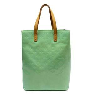 Louis Vuitton Handbag Monogram Verni Reid MM Peppermint Green Patent Leather Ladies M91305 51926