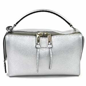 Fendi Handbag Shoulder Bag Celeria Ray Silver Leather FENDI Women's 97874c