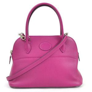 Hermes Handbag Shoulder Bag Bored 27 Rose Purple Swift HERMES Women's 98058b