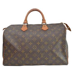Louis Vuitton Bag Monogram Speedy 35 Brown Canvas Handbag Mini Boston Ladies Men 51833