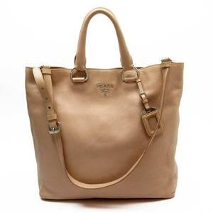 Prada PRADA handbag tote bag beige leather ladies 51993
