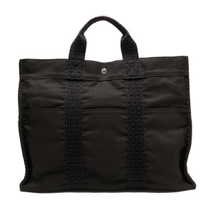 Hermes HERMES Handbag Tote Bag Ale Line MM Gray Nylon Canvas Ladies Men 52065d
