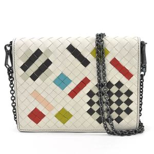 Bottega Veneta Chain Shoulder Wallet Intrecciato White Multicolor Leather BOTTEGA VENETA Ladies 97928c
