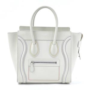 Celine Handbag Luggage Micro Shopper Cream White Leather CELINE Ladies 177913 98030b