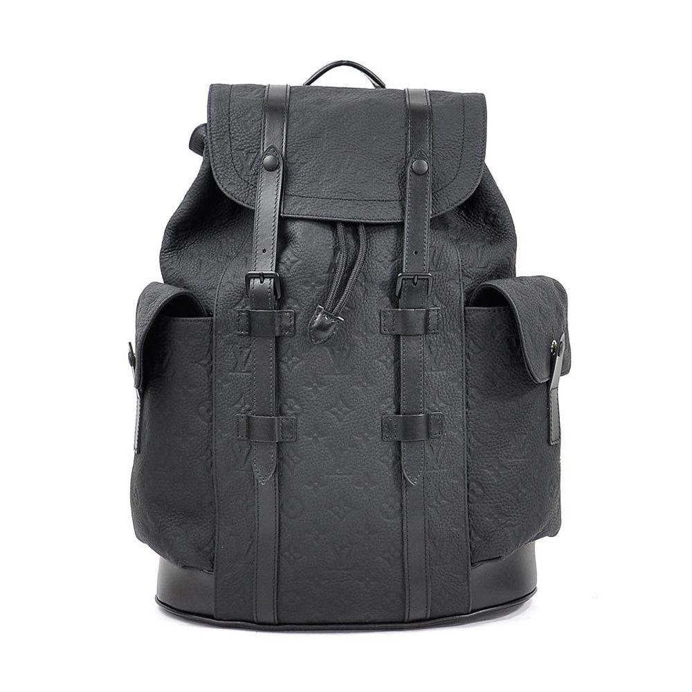 Louis Vuitton Rucksack Backpack Monogram Christopher PM Black Taurillon Leather Men's M55699 New 97933
