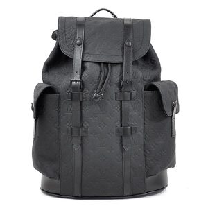 Louis Vuitton Rucksack Backpack Monogram Christopher PM Black Taurillon Leather Men's M55699 New 97933
