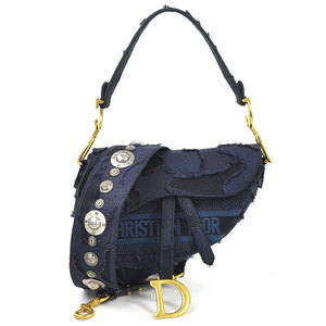 Christian Dior Shoulder Bag SADDLE Camouflage Canvas Navy Ladies M0446CWAH_M928 97951b