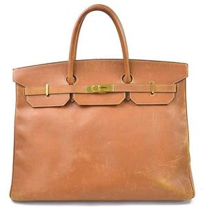 Hermes Handbag Birkin 40 Natural Sable Ardennes HERMES Women's Men's 97994b