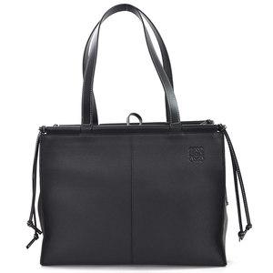 Loewe Shoulder Bag Tote Anagram Cushion Black Soft Grain Calf LOEWE Ladies 97995c
