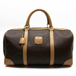 Celine CELINE handbag Boston bag Macadam brown PVC leather a1695