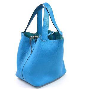Hermes Handbag Pico Tan Lock MM Taurillon Clemence HERMES Ladies 97989b