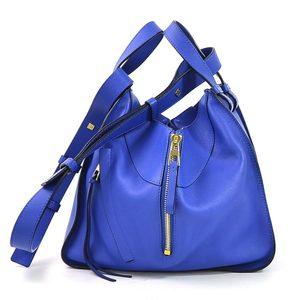 Loewe Handbag Shoulder Bag Hammock ELECTRIC BLUE Leather LOEWE Ladies 387.30.N60 98040d
