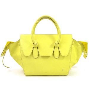 Celine Handbag TIE Yellow Leather CELINE Ladies 175883 97990c