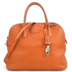 Hermes Handbag Shoulder Bag Bored 35 Potiron Taurillon Clemence HERMES Ladies 98078a