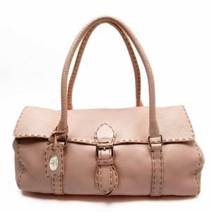 Celine CELINE shoulder bag pink silver leather ladies a1759