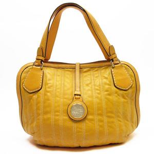 Celine CELINE Shoulder Bag Tote Orange Leather Women's a1307