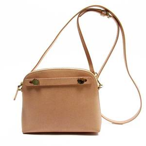 Furla FURLA Pochette Pink Gold Leather Ladies a1758