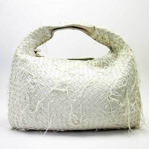 Bottega Veneta BOTTEGA VENETA Shoulder Bag Intrecciato White Leather Ladies a1547