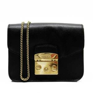 Furla FURLA Chain Black Gold Leather a1809d