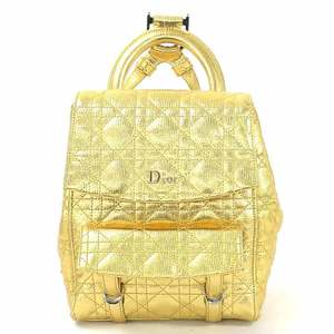 Christian Dior Backpack Canage STARDUST Gold Metallic Leather Ladies M1504PNFA d96832