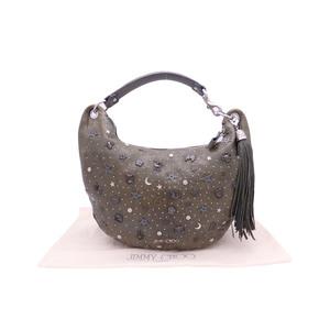 Jimmy Choo JIMMY CHOO Shoulder Bag Khaki Leather Ladies e39644