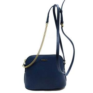 Furla FURLA blue gold leather a1811a