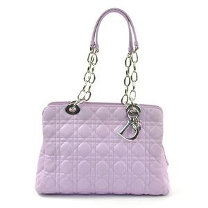Christian Dior Shoulder Bag Canage Light Purple Leather Ladies d97565
