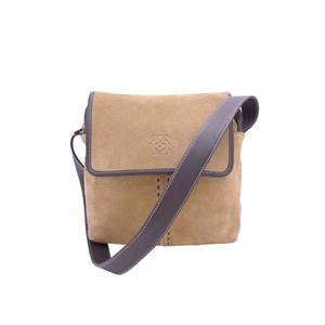 LOEWE Shoulder Bag Anagram Brown Suede Leather e40344