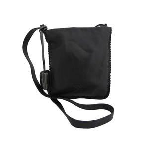 LOEWE Anagram Black Metallic Gray Leather Ladies e40092