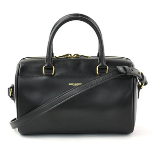 Saint Laurent handbag shoulder bag baby duffel black leather SAINT LAURENT Ladies d97508