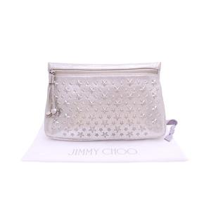 Jimmy Choo JIMMY CHOO clutch bag star studs silver leather e40751