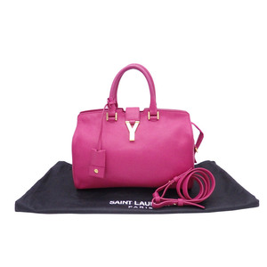 Saint-Laurent SAINT LAURENT Y logo pink purple leather handbag shoulder bag ladies e40950