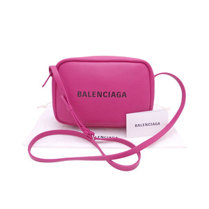 Balenciaga BALENCIAGA Bag Logo Magenta Leather Shoulder Ladies Men 489812 e41650