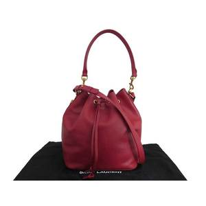 Saint Laurent SAINT LAURENT red leather shoulder bag handbag ladies e43691