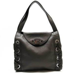 Jimmy Choo JIMMY CHOO shoulder bag gray silver leather ladies h22268