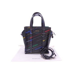 Balenciaga BALENCIAGA handbag bazaar S black multicolor leather shoulder bag e41552