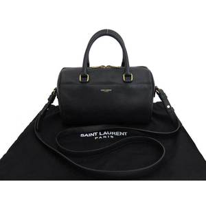 Saint-Laurent SAINT LAURENT Baby duffle navy leather handbag shoulder bag ladies e41501
