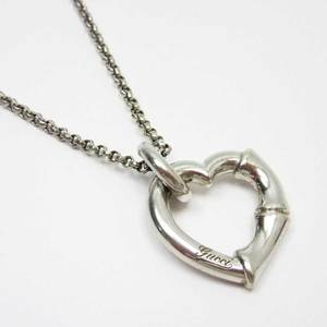 Gucci GUCCI Necklace Bamboo Heart Silver 925 Ladies h21351