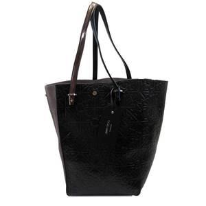 Jimmy Choo JIMMY CHOO Shoulder Bag Tote Twist Black Gray Leather Suede Ladies h22539