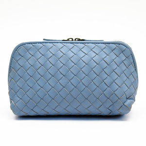 Bottega Veneta BOTTEGA VENETA Pouch Multi Case Intrecciato Blue Leather h22639
