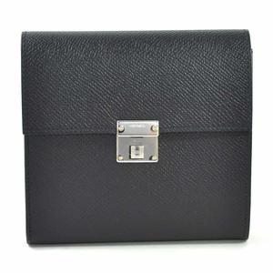 Hermes Tri-Fold Wallet Click 12 Black Vaud Epson HERMES Women's Men's i0322
